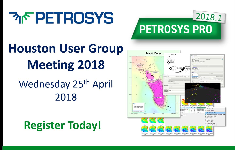 Houston User Group Meeting 2018