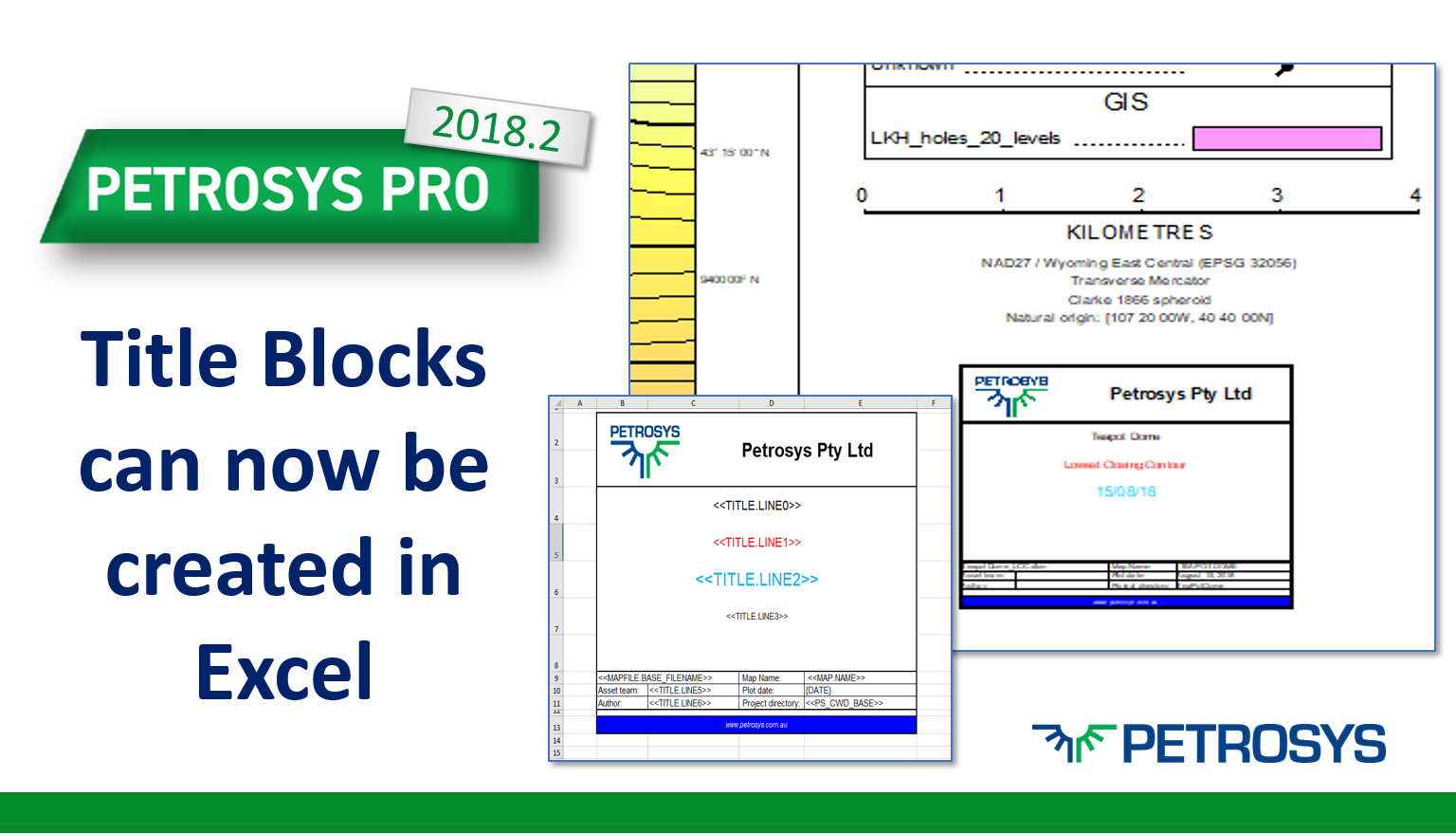Title Blocks can now be created in Excel