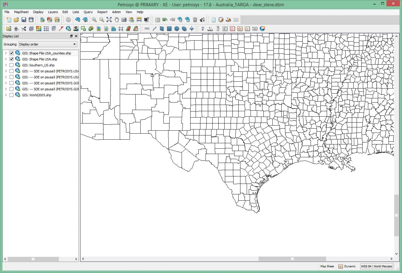 Dear Steve I Have A Shapefile Of Counties Of The Southeast - Us map shapefile