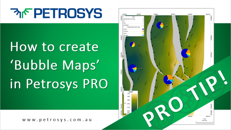 Creating bubble maps in Petrosys PRO