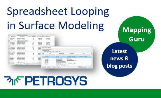 Spreadsheet Looping in Surface Modeling