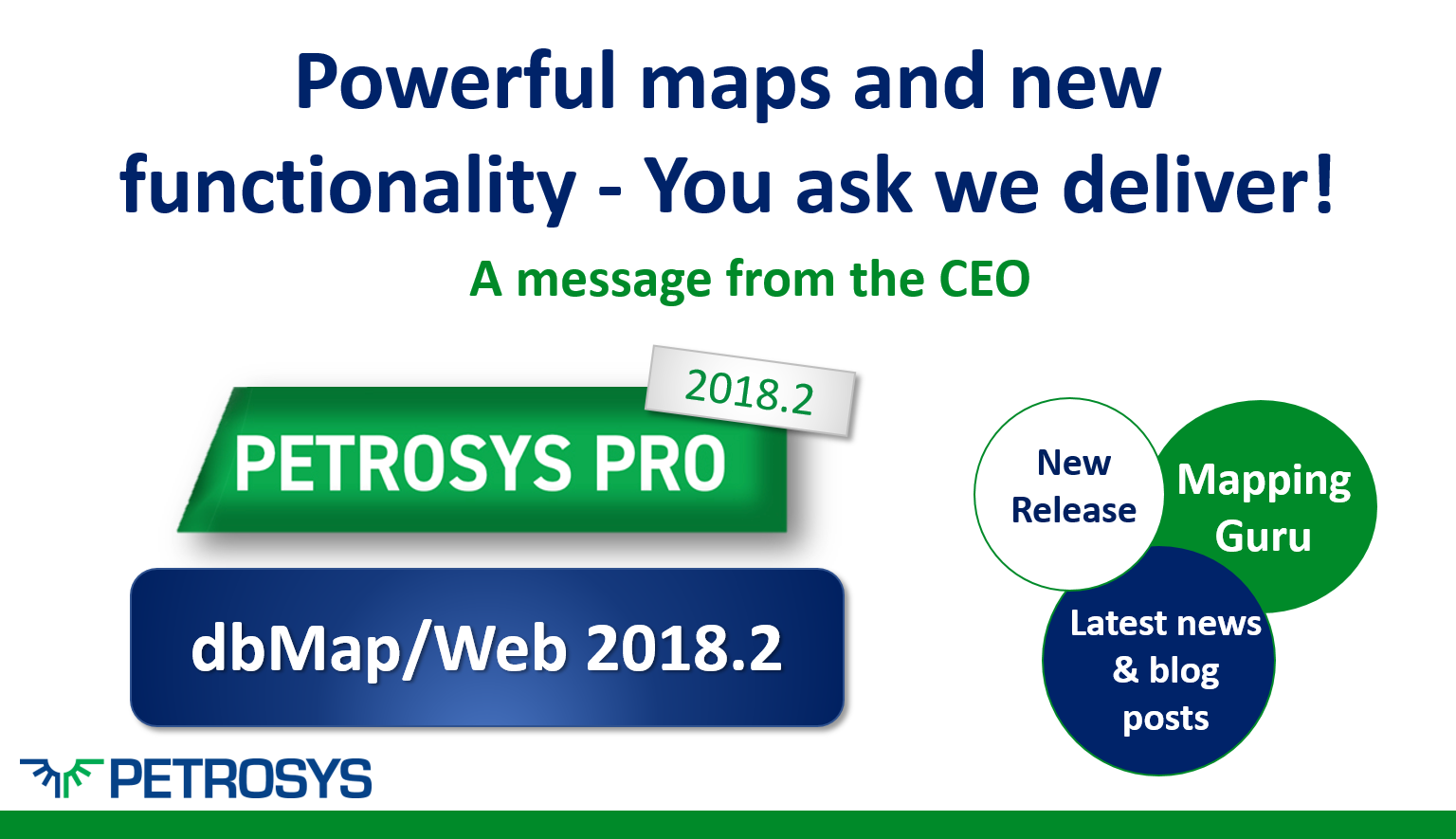 Powerful maps and new functionality - You ask we deliver!