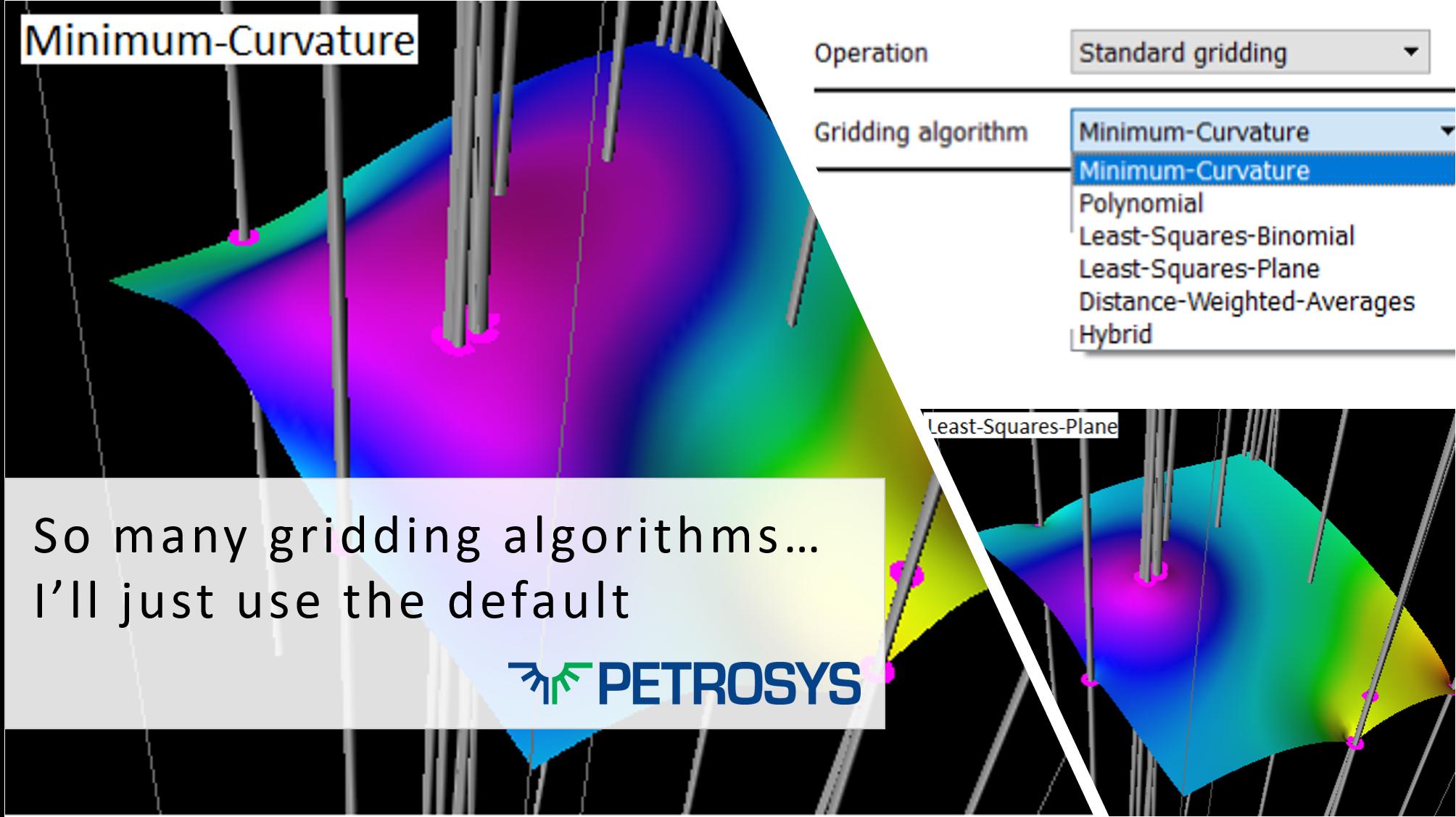 So many gridding algorithms – I'll just use the default