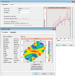 Kriging con deriva externa es una excelente manera de modelar atributos como velocidades o características deposicionales.