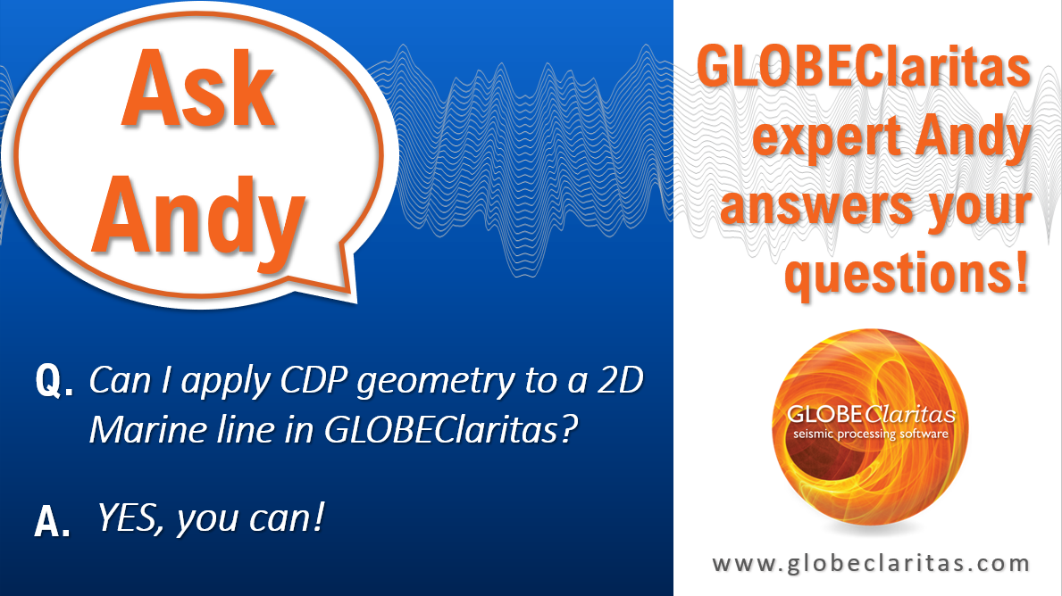 Ask Andy…Can I apply CDP geometry to 2D marine lines?