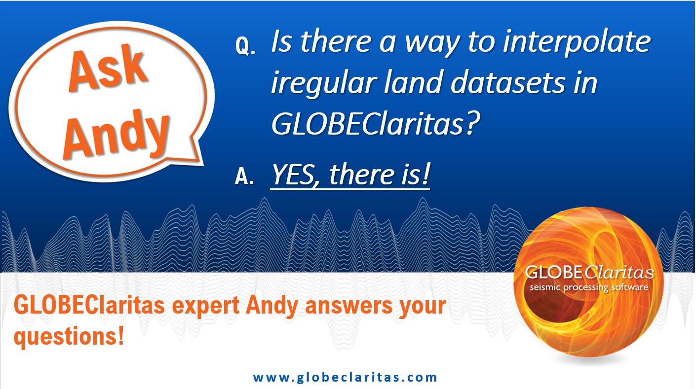 Ask Andy…Interpolating irregular land datasets