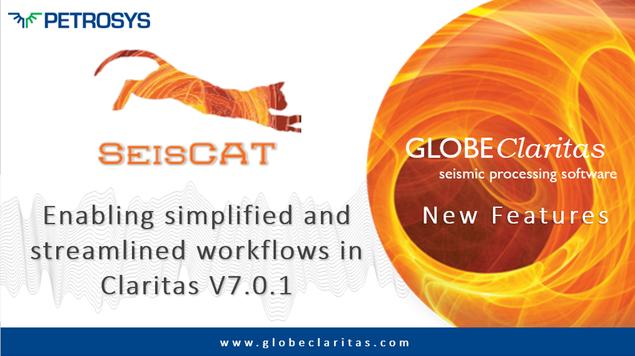 SeisCAT Enabling Simplified Workflows in V7.0.1