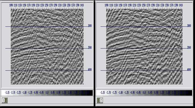 zoomed marine seismic data